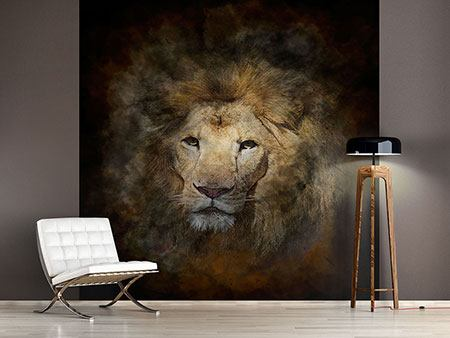 Photo Wallpaper Lion Portrait