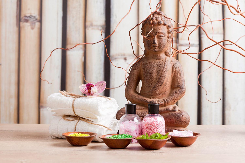 Fototapete Buddha + Wellness
