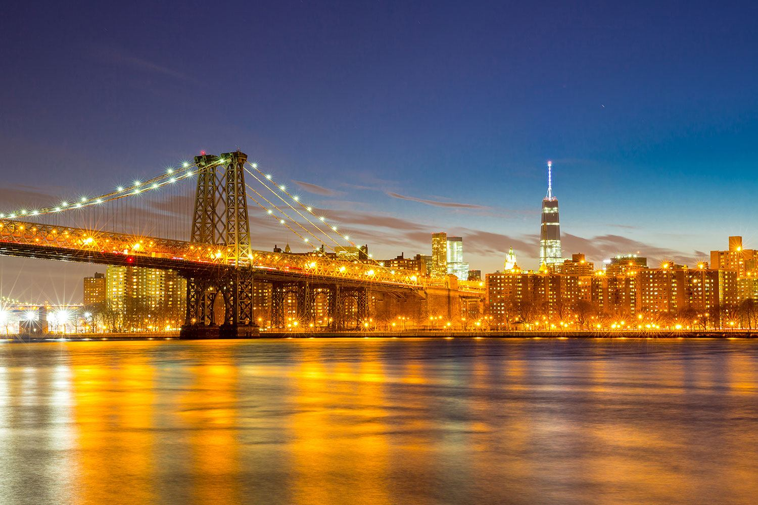 Photo Wallpaper Skyline NY Williamsburg Bridge