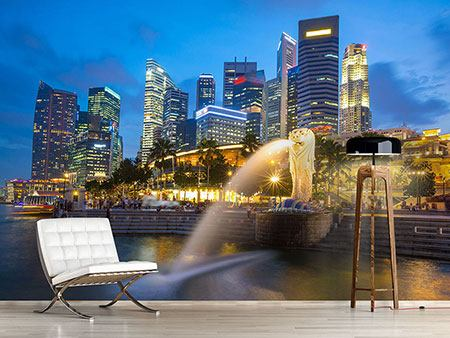 Photo Wallpaper Skyline Singapore Into A Sea Of Lights