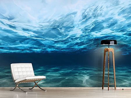 Photo Wallpaper Light Reflections Underwater