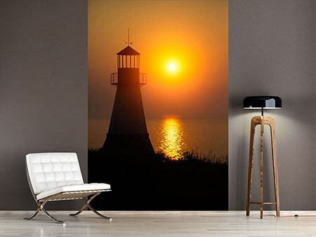 Photo Wallpaper A Lighthouse At Sunset