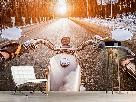 Photo Wallpaper On A Motorcycle