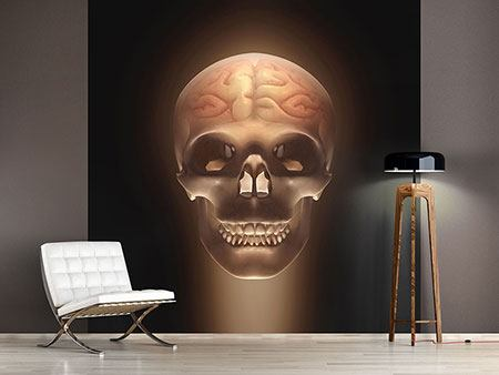 Photo Wallpaper Creepy Skull