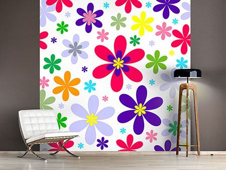 Photo Wallpaper Retro Fashion Flowers