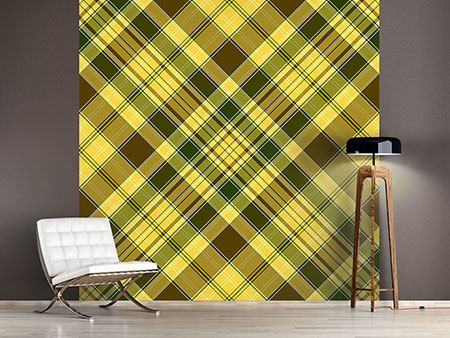 Photo Wallpaper Plaids Retro Design