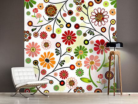 Photo Wallpaper Photo Wallaper Retro Style Floral