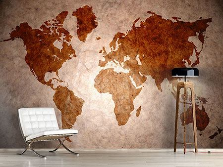 Photo Wallpaper Vintage Map Of The World