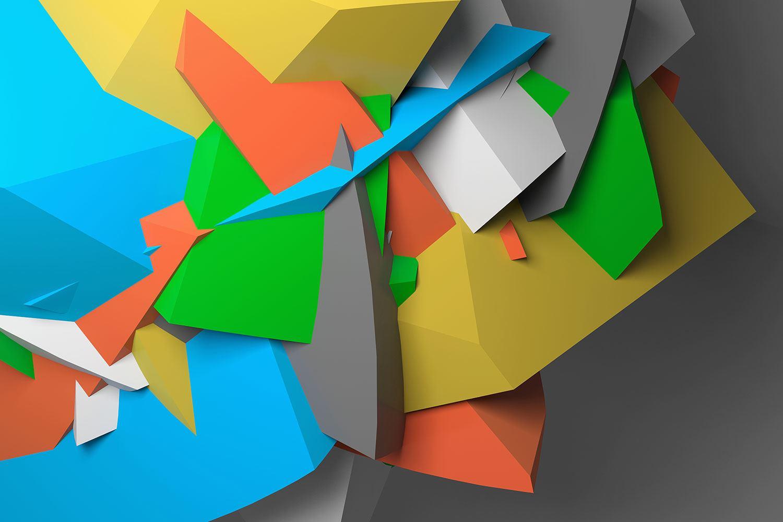Fotomural Figuras Geometricas En 3d