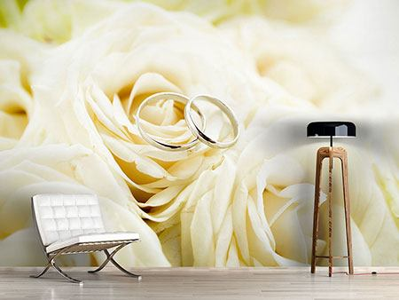 Photo Wallpaper Rings On Roses