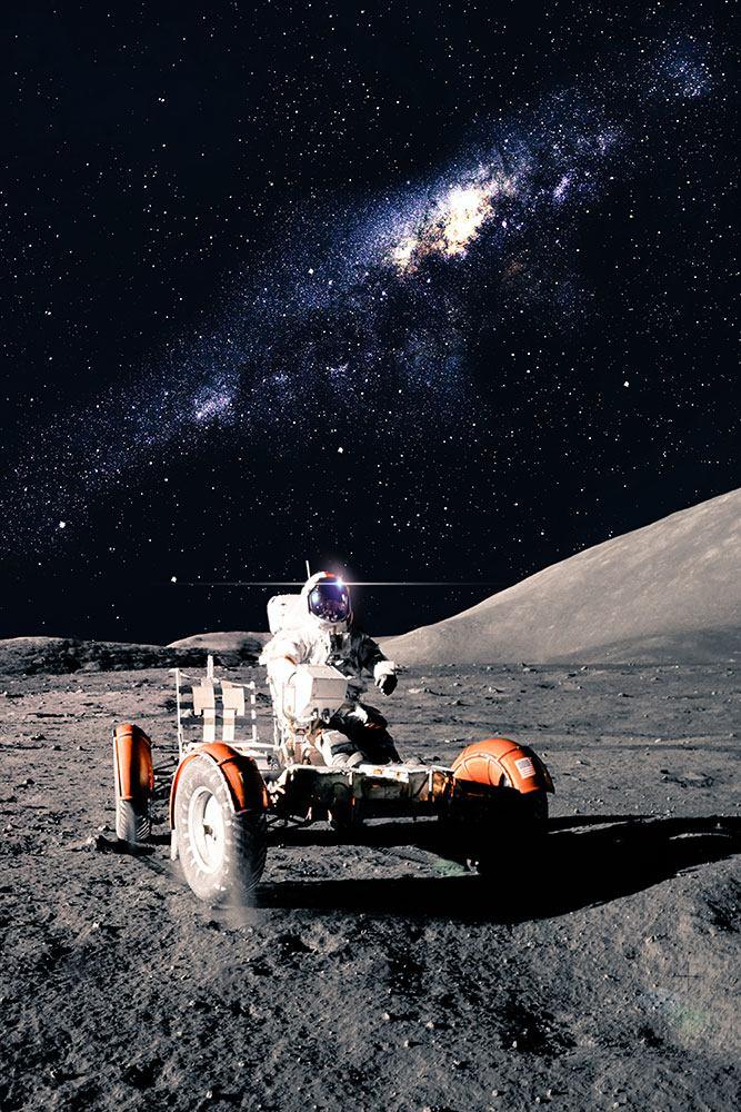 Fototapete Astronauten-Arbeit