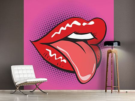 Photo Wallpaper Pop Art Mouth
