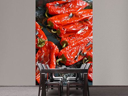 Photo Wallpaper Grilled Peppers
