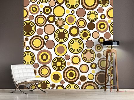 Photo Wallpaper Circles Retro Design