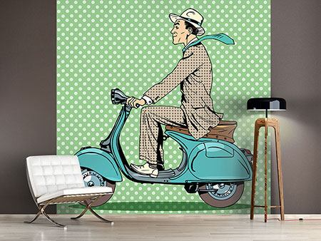 Photo Wallpaper Pop Art Vespa Driver