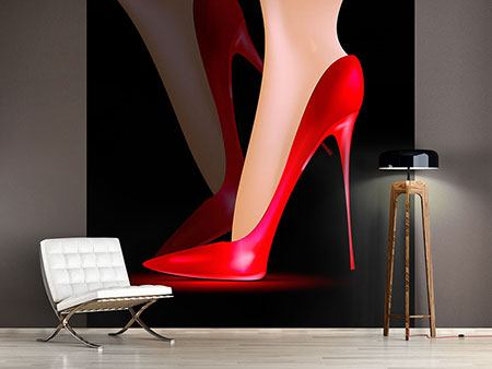Photo Wallpaper The Red High Heel