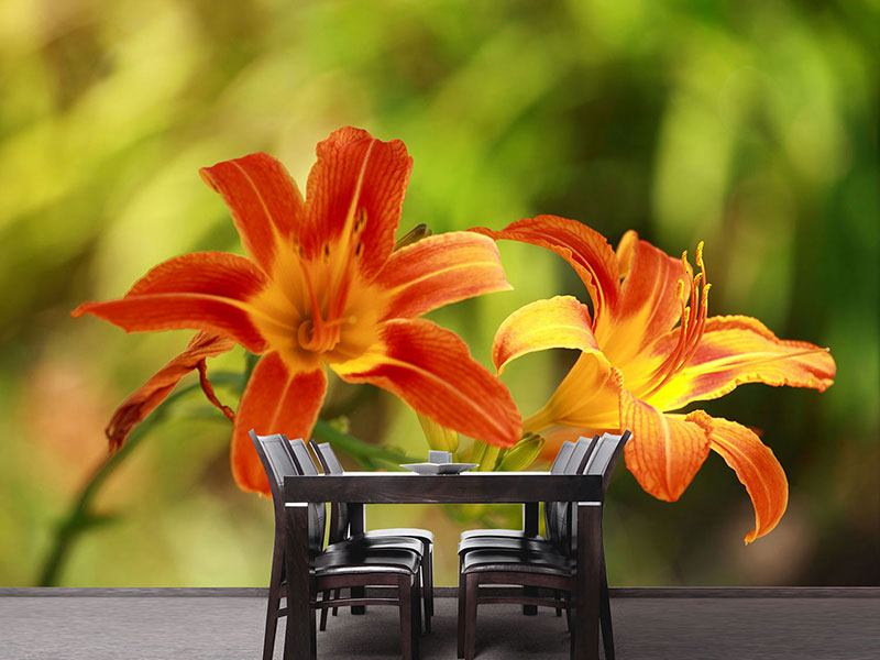 Photo Wallpaper Natural Lilies