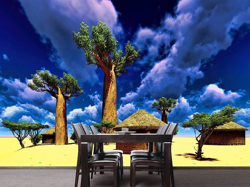 Photo Wallpaper A Village In Africa