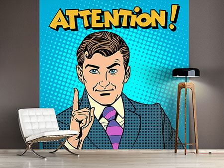 Photo Wallpaper Pop Art Attention