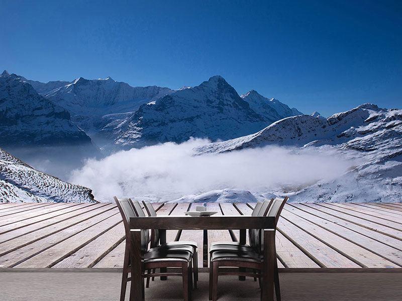 Photo Wallpaper Sun Terrace In The Swiss Alps