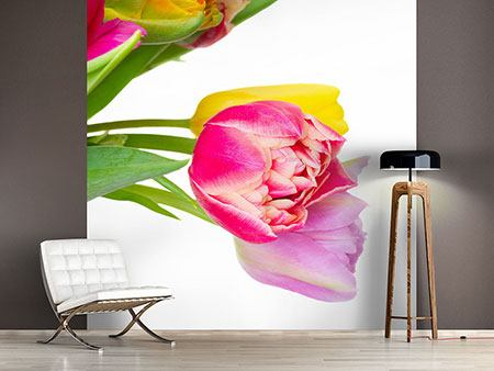 Photo Wallpaper A Colorful Bunch Of Tulips