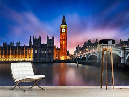 Photo Wallpaper At Night On Big Ben
