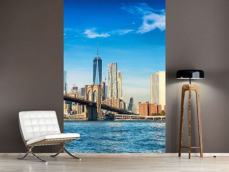 Fotomurale Skyline di New York e del ponte di Brooklin