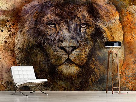 Photo Wallpaper Portrait Of A Lion