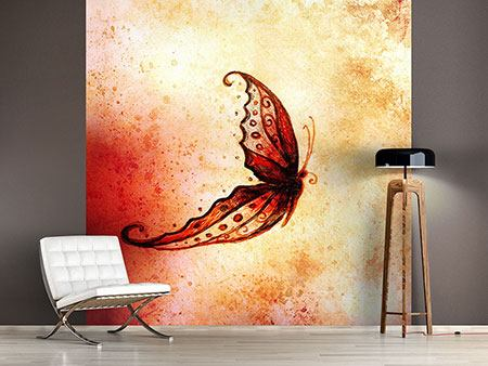 Photo Wallpaper Painting Butterfly