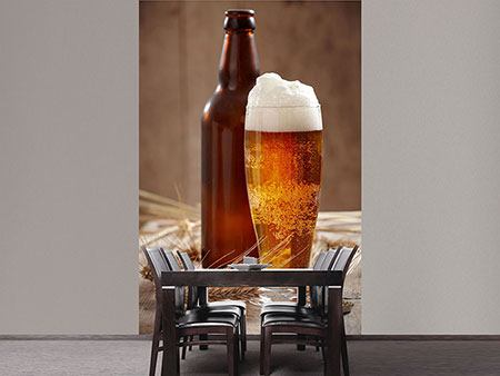 Photo Wallpaper Beer With Foam