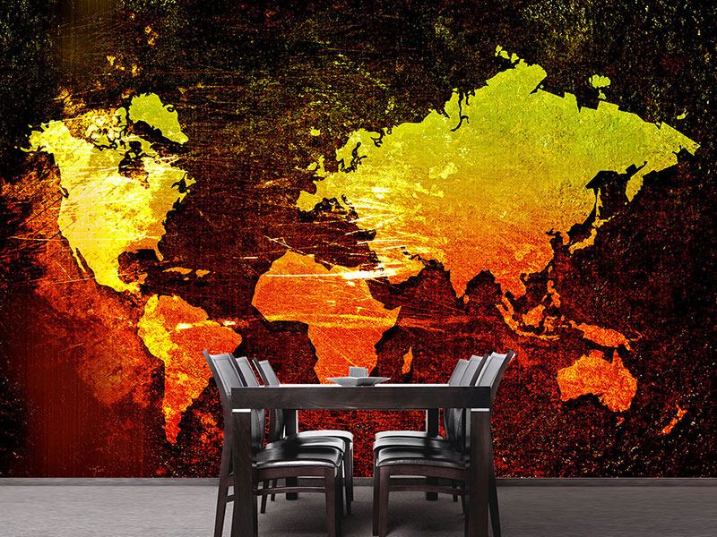 Photo Wallpaper Retro World Map