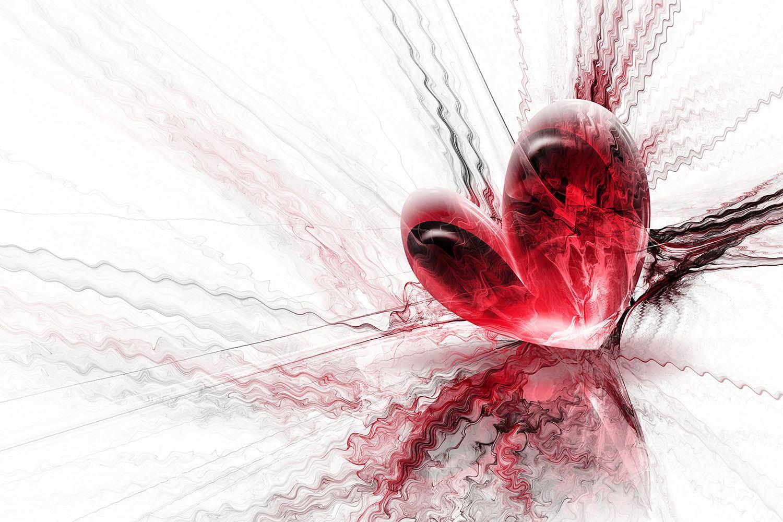 Fototapete Herzspiegelung