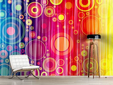 Photo Wallpaper Grunge Retro Circles