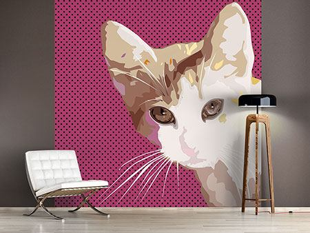 Photo Wallpaper Pop Art Cat