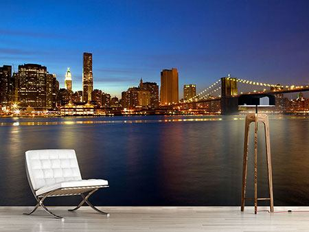 Photo Wallpaper Skyline Manhattan In Sea Of Lights