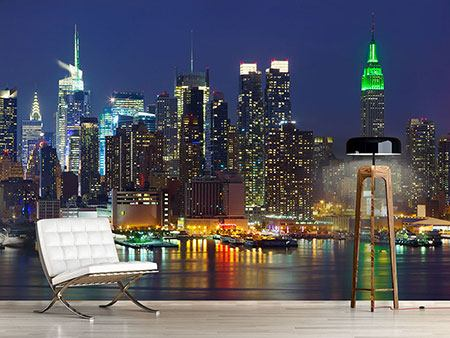 Fotomurale Skyline di Midtown New York di notte