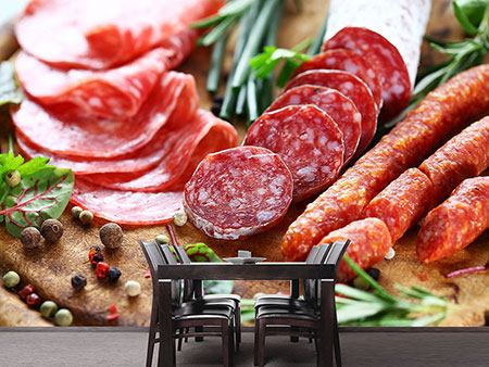 Photo Wallpaper Sausage Buffet