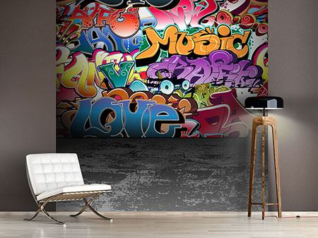 Photo Wallpaper Graffiti Writing