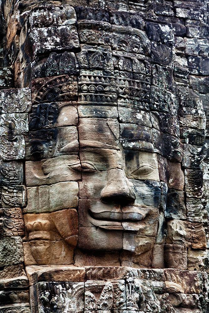 Fototapete Buddha Angkor Thom