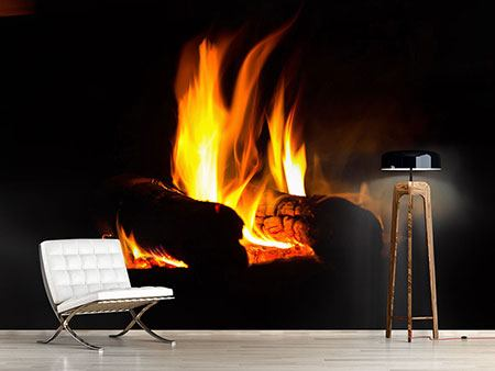 Photo Wallpaper The Fireplace