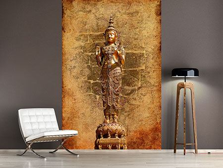 Photo Wallpaper Golden Buddha Statue