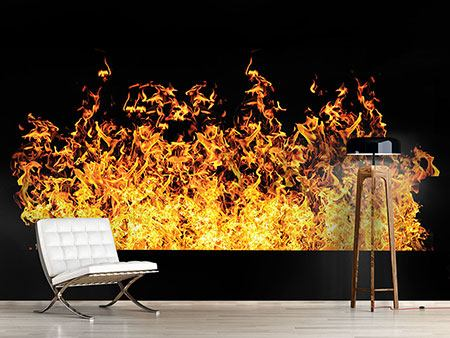 Photo Wallpaper Modern Fire Wall