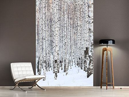 Photo Wallpaper The Birch Forest In Winter