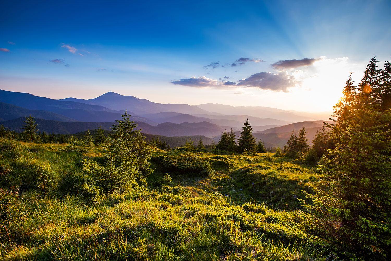 Fototapete Friedliche Landschaft