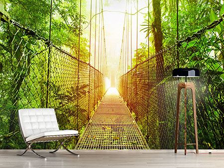 Photo Wallpaper Suspension Bridge