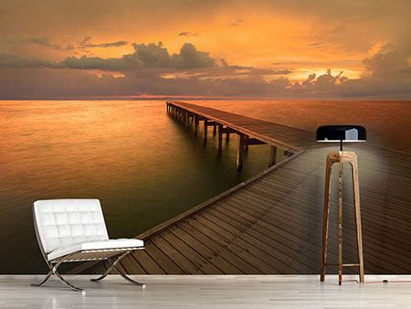 Photo Wallpaper The Footbridge  By The Sea