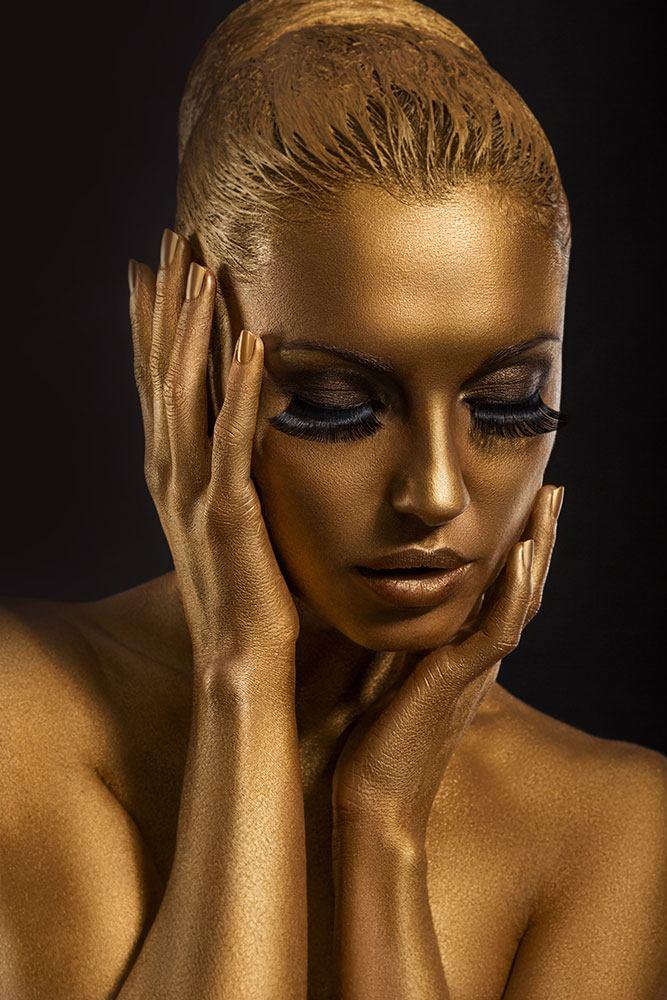 Fototapete Gold-Face