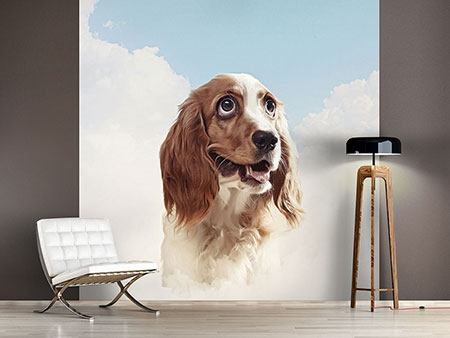 Photo Wallpaper Happy Dog
