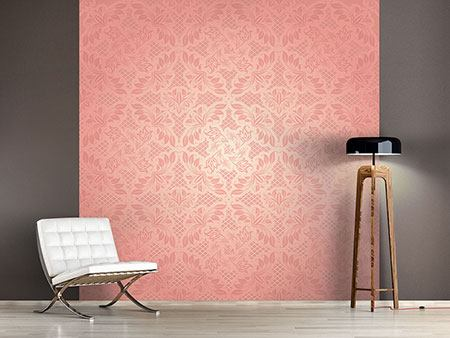 Photo Wallpaper Rococo In Pink