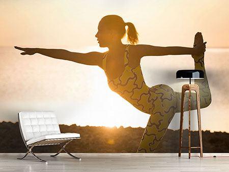 Photo Wallpaper Yoga At Sunset